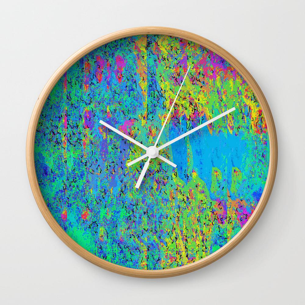 Love Vibrations Wall Clock by Solomonwalker CLK8536871