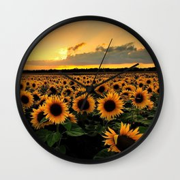Sunflower field Wall Clock