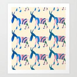 Donkey Parade Art Print