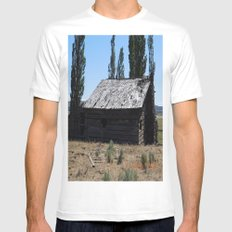 An old time cabin Mens Fitted Tee White MEDIUM