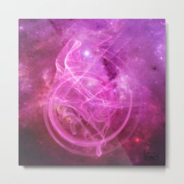 Essence Pink Metal Print