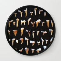 teeth Wall Clocks featuring teeth by WaxLeaf