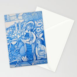 Blue window #7 Stationery Cards