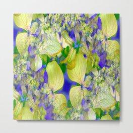 Green Violets Seamless Fractal - IA Metal Print