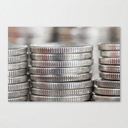 beautiful silver coins Canvas Print