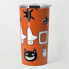 My Neighbour Creatures in Satsuki's dress orange Travel Mug