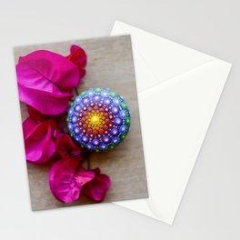 Rainbow Mandala Stone Stationery Cards