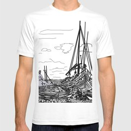 Boats on the Sea T-shirt
