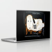 sheep Laptop & iPad Skins featuring sheep by woman