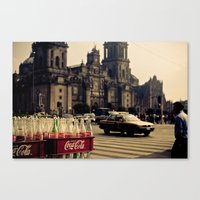 mexico Canvas Prints featuring mexico by petervirth photography