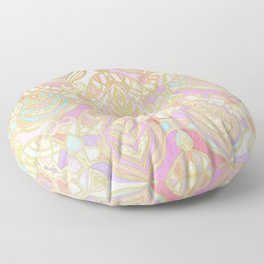 Rosy Opalescent Art Deco Pattern Floor Pillow