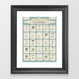 Art Deco Cocktail Recipe Poster Framed Art Print