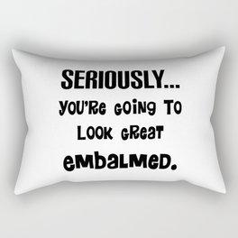 Mortuary Humor Rectangular Pillow