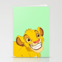 simba Stationery Cards featuring Simba Pixel Art by Luxatr