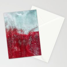 red wall Stationery Cards