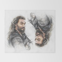 Momoa smile Throw Blanket