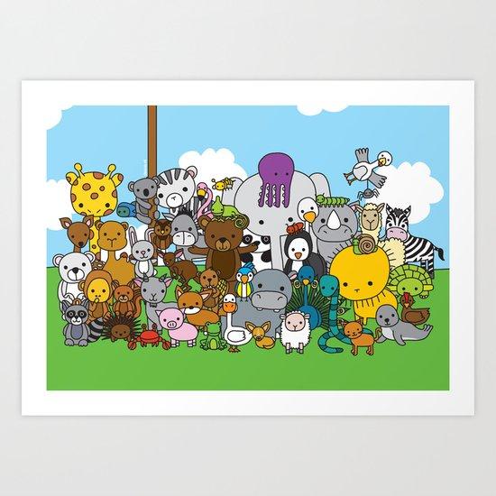 Zoe animals Art Print