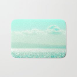 Winter Aqua Sparkling Seashore Bath Mat