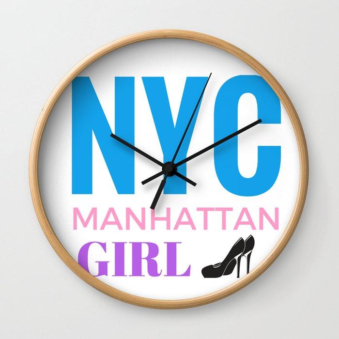 NYC Girl Wall Clock