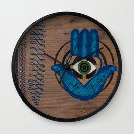 Bullseye Hamsa Henna Wall Clock