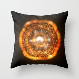 The Eye of Cyma: Fire and Ice - Frame 7 Throw Pillow