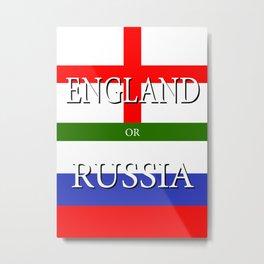 ENGLAND or RUSSIA - UEFA Euro 2016 Metal Print