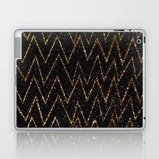 Elegant gold chevron #2 Laptop & iPad Skin