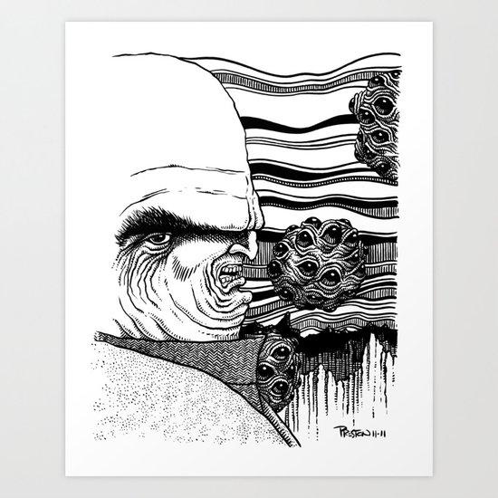 Squirmy Eyes Art Print