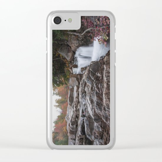 Rocky Gorge Waterfall in Autumn Clear iPhone Case