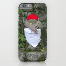 jizo with buckets and bibs iPhone Case