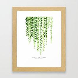 Watercolor string of pearls illustration Framed Art Print