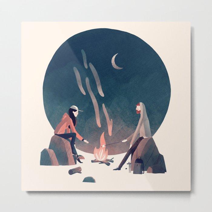 Happy Camping Metal Print