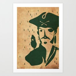 Pirate day - Emilie Record Art Print