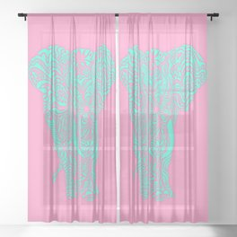 Magical mystery elephant Sheer Curtain