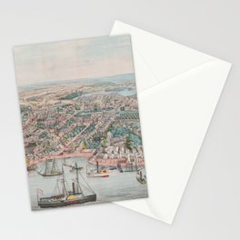 Vintage Pictorial Map of Annapolis MD (1864) Stationery Cards