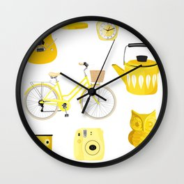 Yellow Collection Wall Clock