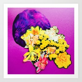 Garden Circle - Violet Art Print