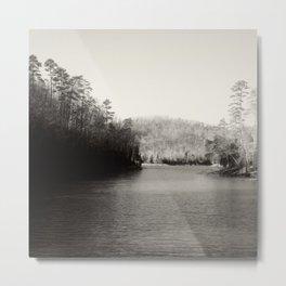 Black & White Lake Metal Print