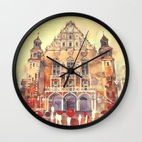 takmaj Wall Clocks featuring Poznań by takmaj