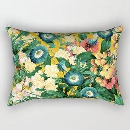 Tangerine Floral Pattern Vintage Rectangular Pillow