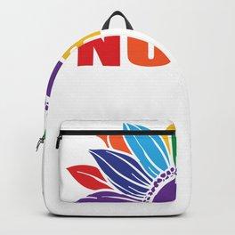 Pride Sunflower Nurse Gay Nurse Lesbian Nurse LGBT Backpack