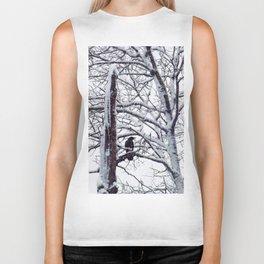 snow trees IIIII Biker Tank