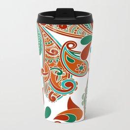 Paisly Print Metal Travel Mug