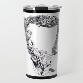 Anatomy Series: Uterus Flowers Travel Mug