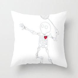 Badminton Skeleton Halloween Shirt Throw Pillow