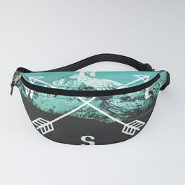 Turquoise Mountain Compass Fanny Pack