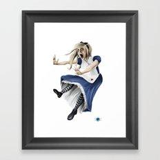 Falling Alice Framed Art Print