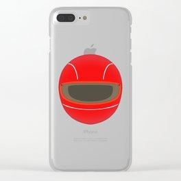 Racing Helmet Clear iPhone Case