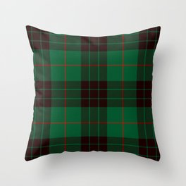 Dark Green Tartan with Black and Red Stripes Throw Pillow