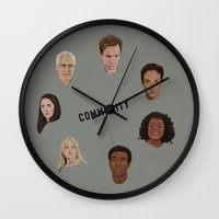 community Wall Clocks featuring Community Simple by mycolour